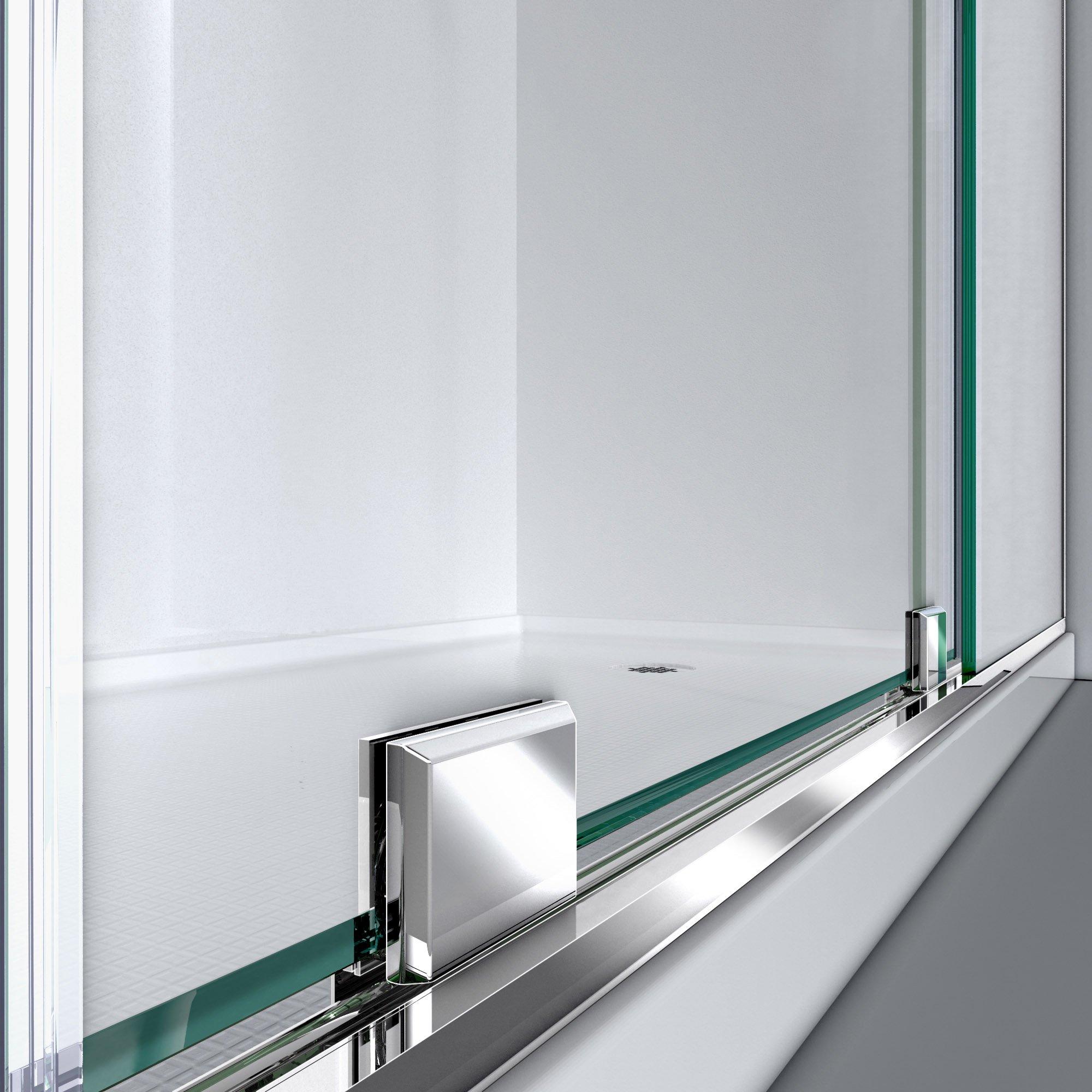 DreamLine Mirage-X 56-60 in. Width, Frameless Sliding Shower Door, 3/8'' Glass, Brushed Nickel Finish by DreamLine (Image #6)