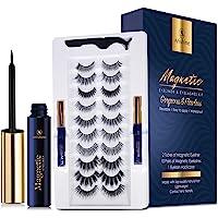 Magnetic Eyeliner and Lashes Magnetic Eyelashes Natural Look Kit False Lashes 10 pairs with Magnetic Eyelash Applicator…