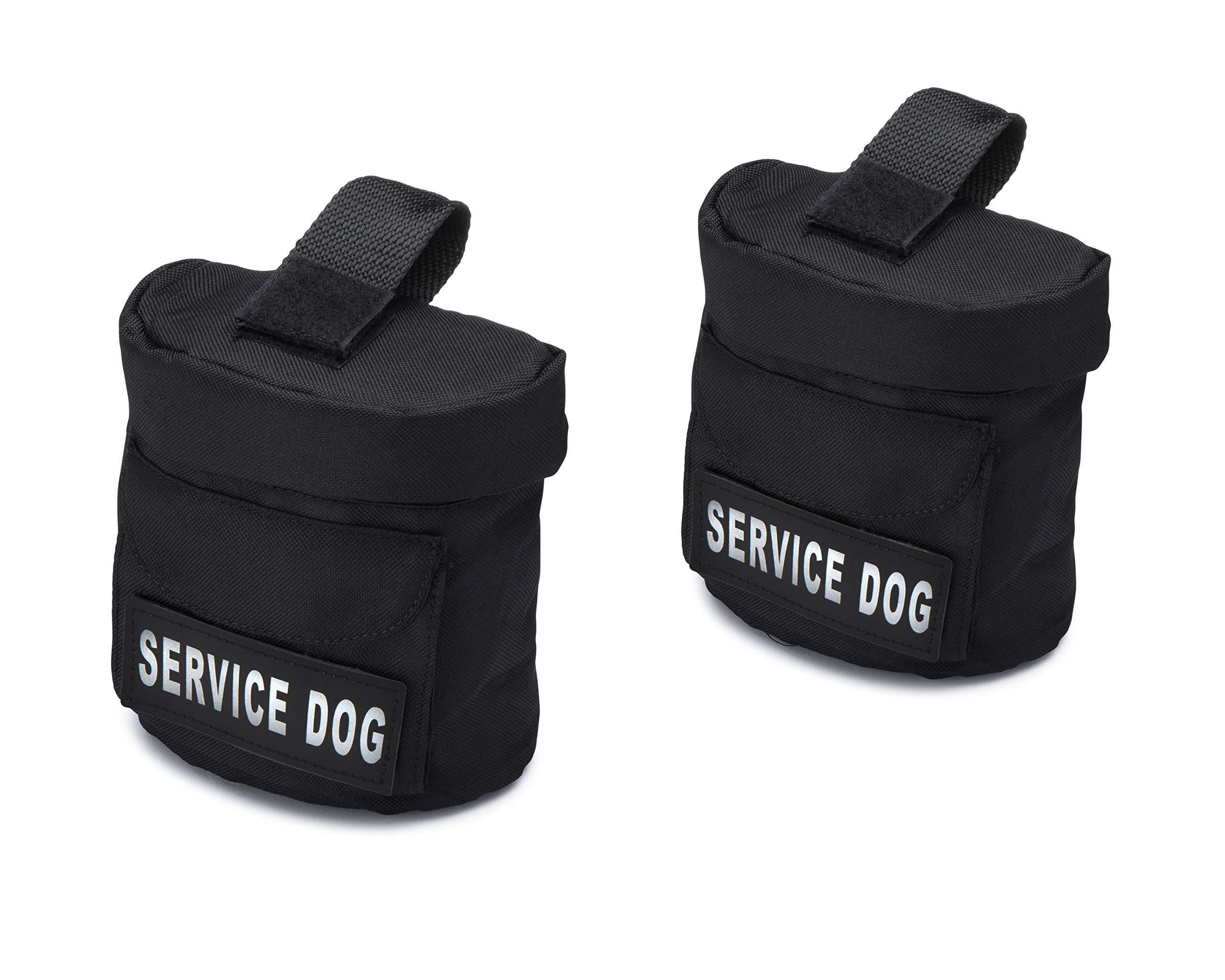 Industrial Puppy Service Dog Harness Saddle Bags with SERVICE DOG Hook Patches by