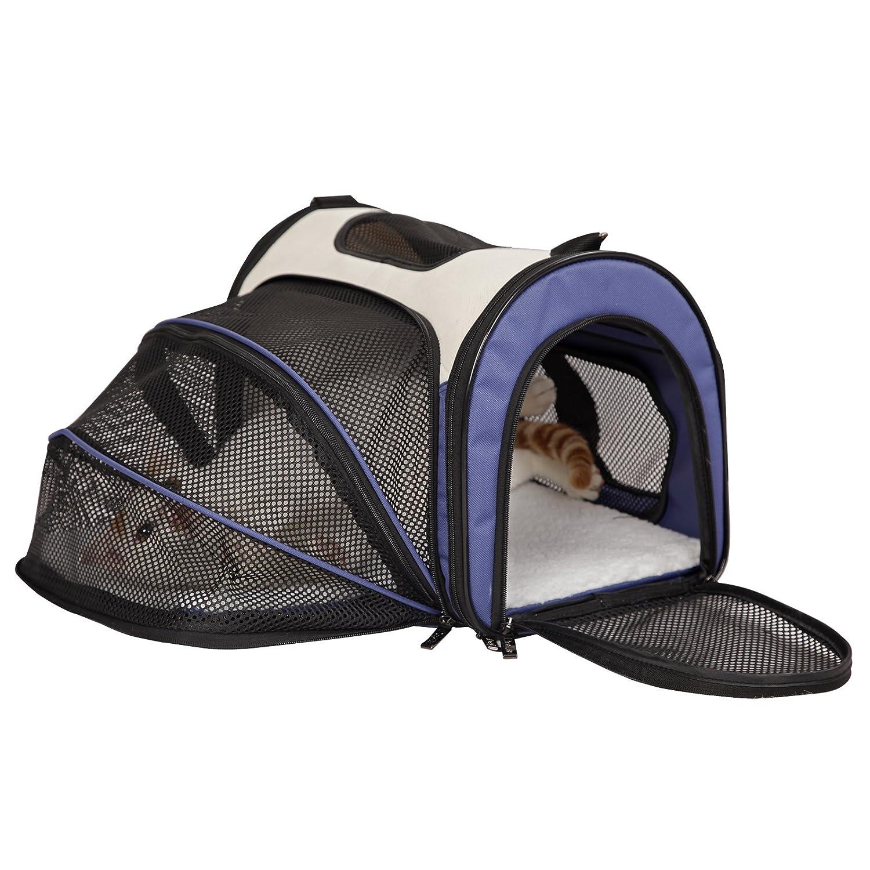 Petsfit Cage de Transport Extensible et Pliable pour Chiens et Chats, Bleu (Petit : 41cm x 24cm x 28cm) Xiamen JXD E-Commerce Co. Ltd.