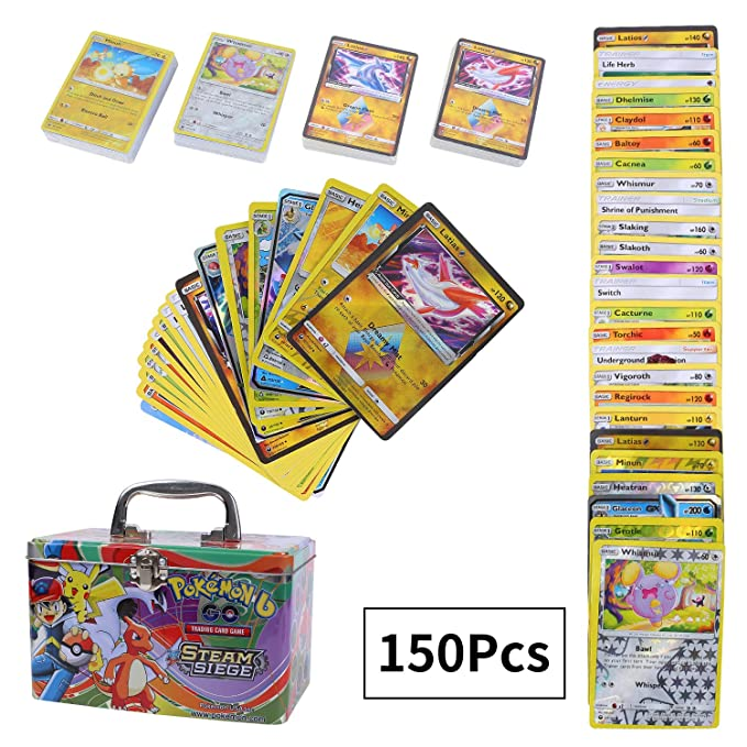 150 Piezas Pokemon Cartas, Tarjetas de Pokemon, Cartas ...