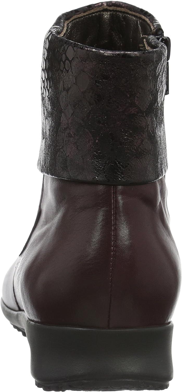 Mephisto Fiducia Silk 7874/Queen 14774, Bottes Classiques Femme Rouge Chianti