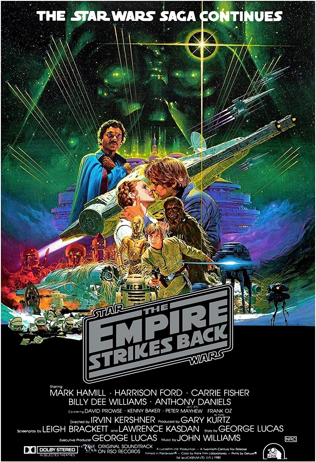 Movie Poster 24x36 Inches 1980 The Empire Strikes Back Star Wars Episode V