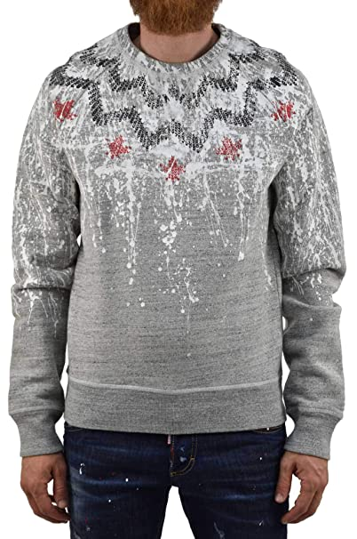 Dsquared2 Gray Sweater Paint Hombre - Talla: S - Color: Gris - New: Amazon.es: Ropa y accesorios