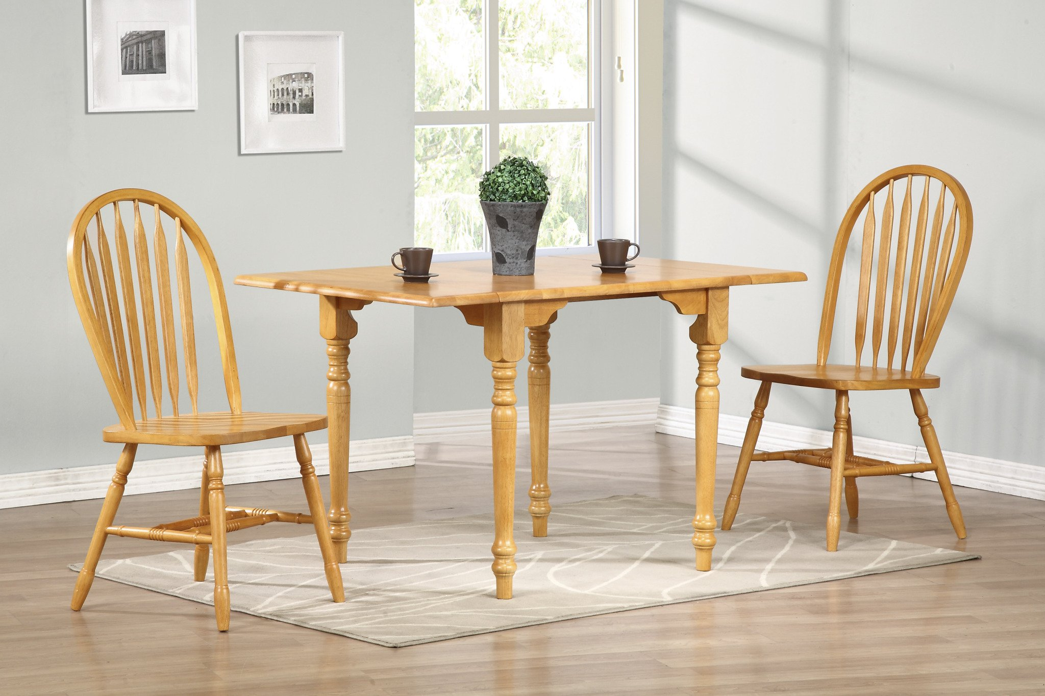 Sunset Trading Arrowback Dining Chair, Set of 2, 38'', Light Oak by Sunset Trading (Image #3)