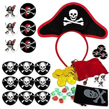 Oblique Unique® - Disfraz de Pirata para niños, cumpleaños ...