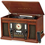 Victrola Aviator 8-in-1 Bluetooth Record Player & Multimedia Center with Built-in Stereo Speakers - 3-Speed Turntable…