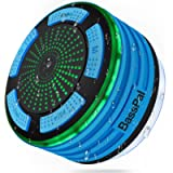 Bluetooth Speaker, BassPal IPX7 Waterproof Portable Shower Speakers, Wireless Shower Radio with Suction Cup & LED Mood…