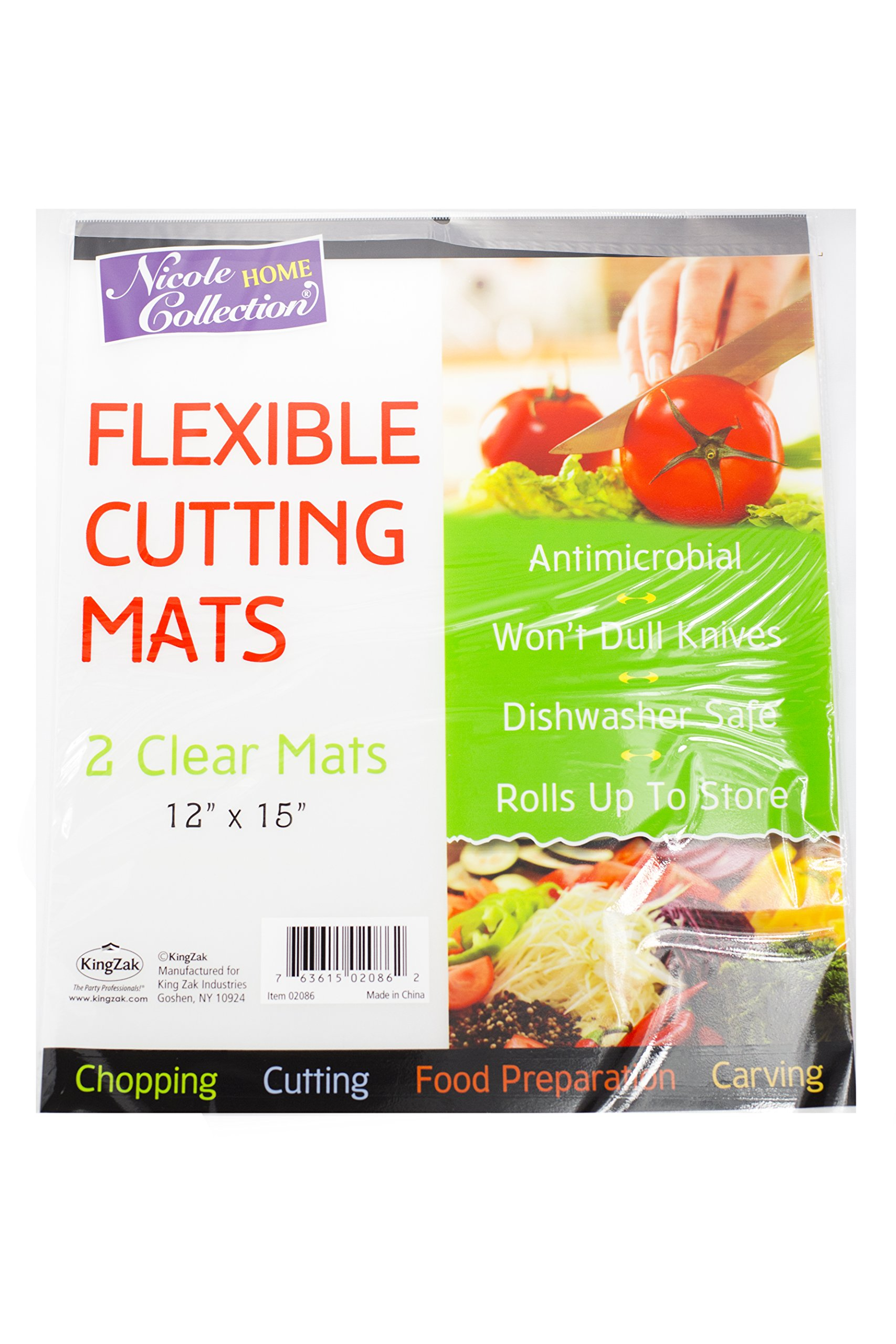 Nicole Home Collection Flexible Cutting Mats 4 Clear Mats 12'' x 15''