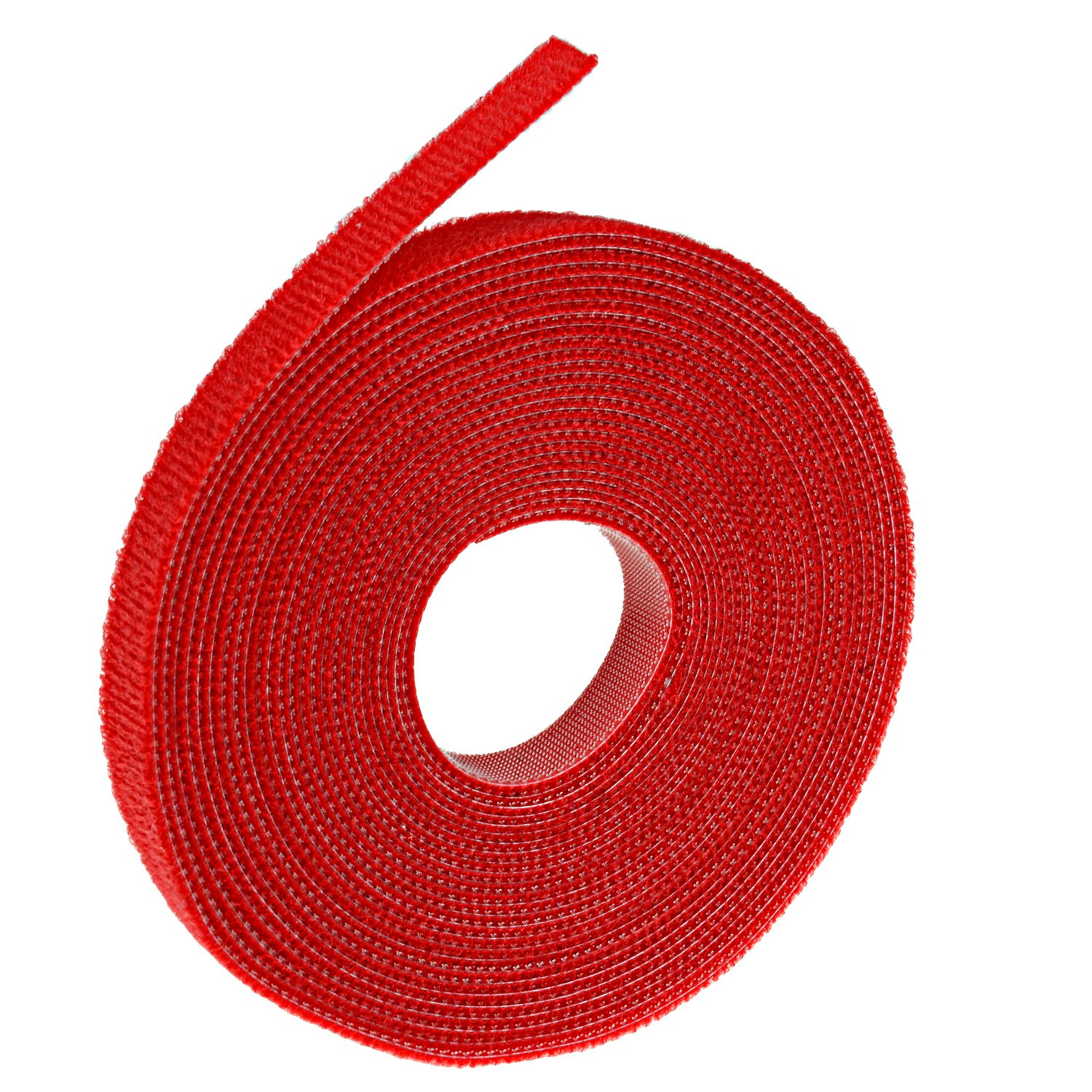 Oldhill Fastening Tapes Hook and Loop Reusable Straps Wires Cords Cable Ties - 1/2 Width, 15' x 3 Rolls (Black, Red, White) 15' x 3 Rolls (Black