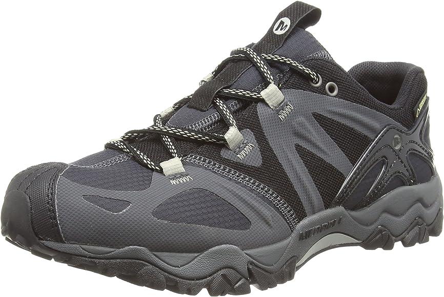 Merrell Grasshopper Sport Gore Tex Zapatillas de senderismo para hombre, Negro (BLACK/SILVER), 42 EU: Amazon.es: Zapatos y complementos