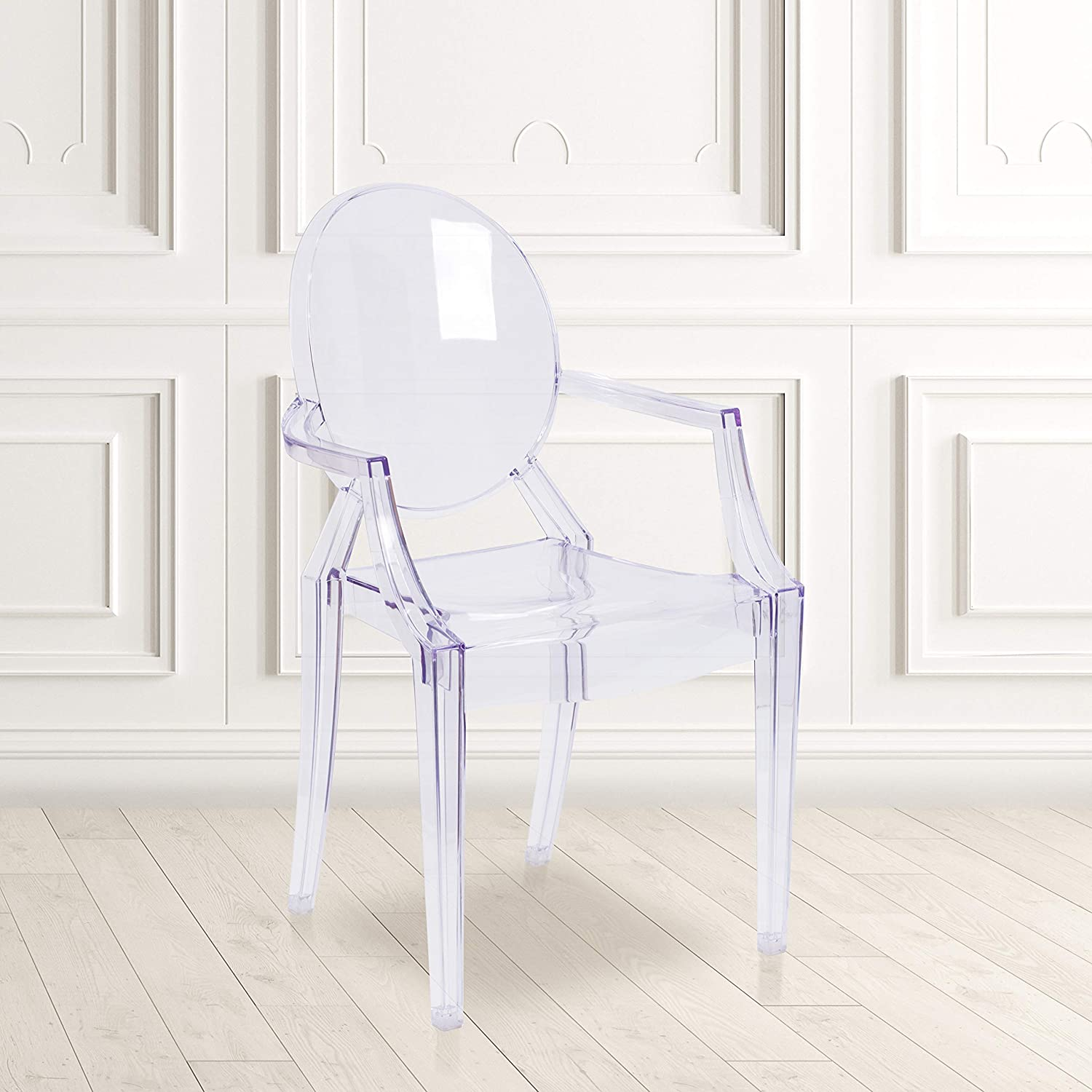 Shop Flash Furniture 4 Pack Ghost Chair from Amazon on Openhaus