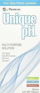 Menicon Unique pH Multi-Purpose Solution Plus RGP Lens Case, ONE 4 Fluid Ounce (120 Milliliter) Bottle