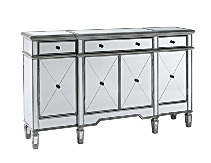 Attrayant Powell Company Mirrored 4 Door 3 Drawer Console