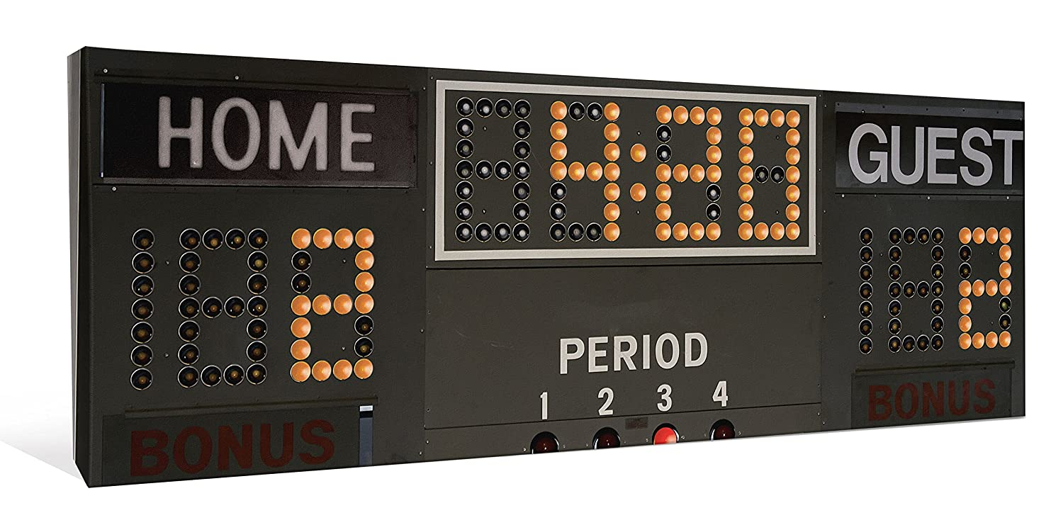 Com Jp London Cnvpan5327 2 Thick Hockey Scoreboard Timer Clock Panoramic Gallery Wrap Canvas 46 Wide By 16 High Home Improvement