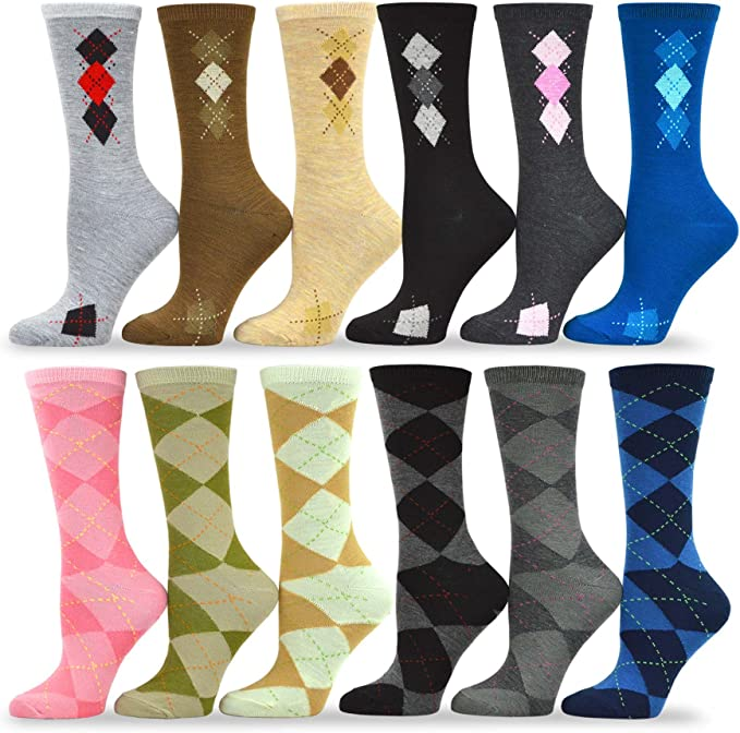 New Lot 12 Pairs Womens Ankle Socks Multi Color Fashion Size 9-11 Funny Words