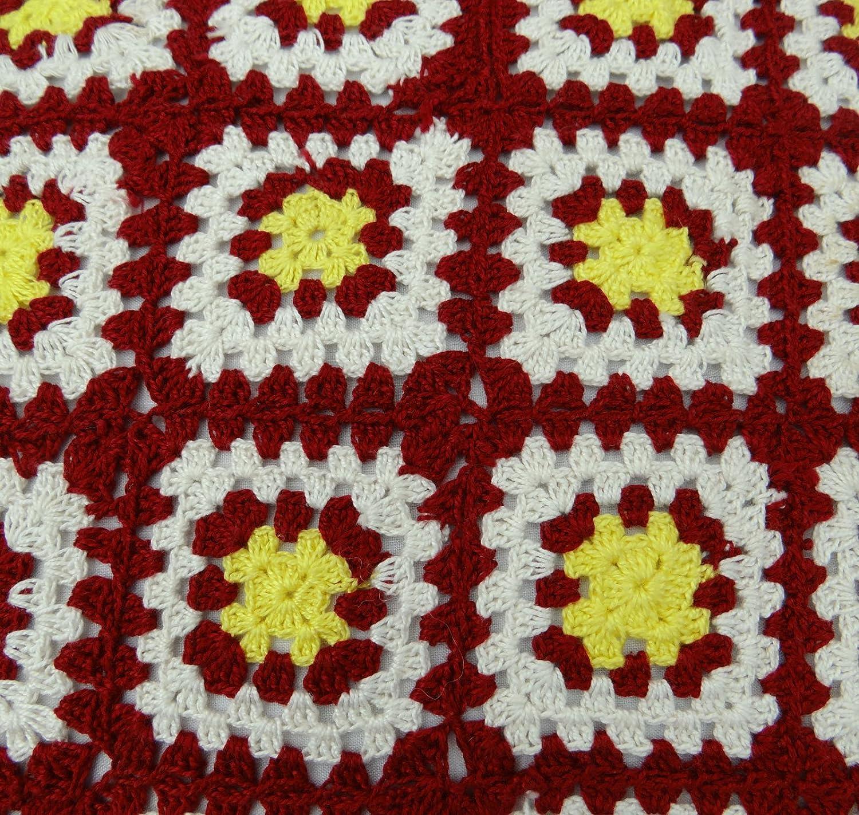 Home diseño de flores de ganchillo cuadrado algodón funda ...