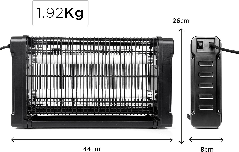 Duronic FK8420 Destructeur piège d'insectes mouches moustiques avec 2 lampes ultraviolet de 10W – auto portatif ou mural