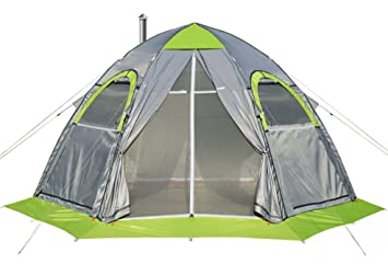 Winter Tent with Stove Pipe Vent. Hunting Fishing Outfitter Tent with Wood Stove. 4  sc 1 st  Amazon.com & Amazon.com: Winter Tent with Stove Pipe Vent. Hunting Fishing ...