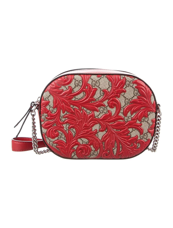 c17b4eb1a48296 Amazon.com: Gucci Dionysus Red Lace Signature Arabesque Med Shoulder Bag  Handbag Italy New: Shoes