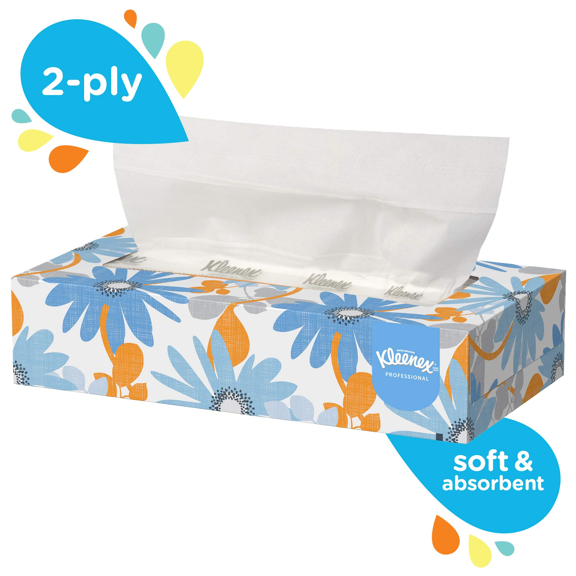 Kleenex Professional Facial Tissue for Business (13216), Flat Tissue Boxes, 60 Boxes/Case, 100 Tissues/Box by Kimberly-Clark Professional (Image #5)