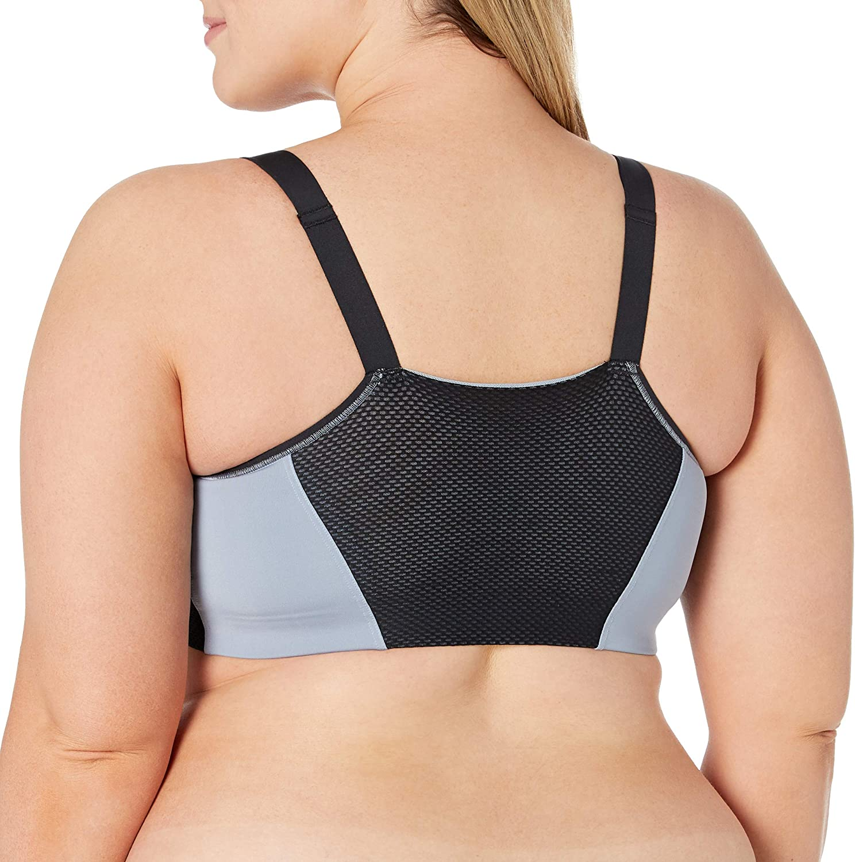 Curvy Couture Womens Zipped Fit Sports Bra Sports Bra