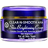 Gentle Skin Brightening Cream: Skin Lightening & Whitening from 4 Natural Plant Extract Skin Lighteners & Exfoliating Agents. Effective Safe Bleaching Substitute to Hydroquinone for Even Skin Tone