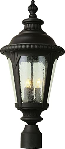 Trans Globe Lighting 5047 RT Outdoor Commons 24 Postmount Lantern, Rust