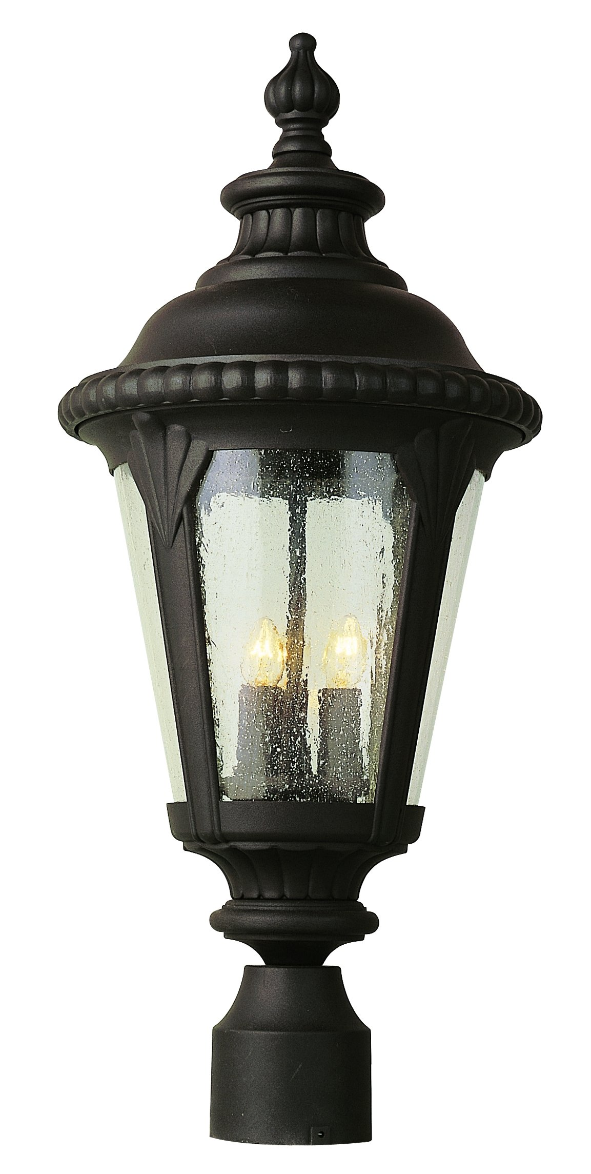 Trans Globe Lighting 5047 BK Outdoor Commons 24'' Postmount Lantern, Black