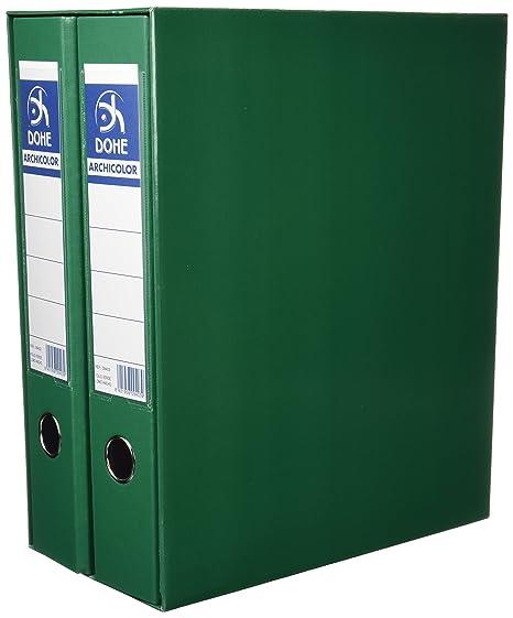 Dohe 91000 - Módulo con 2 archivadores folio, color verde ...