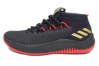 cheaper 4a173 6cce7 Amazon.com  adidas Dame 4 Mens in Core BlackScarletGold, 7  Basketball