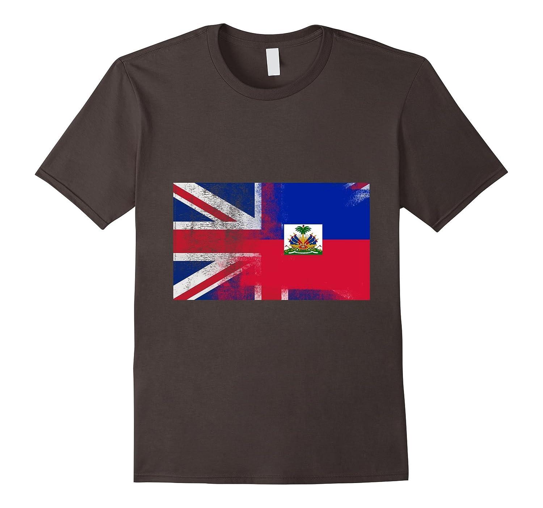 British Haitian Half Haiti Half UK Flag Shirt-CD