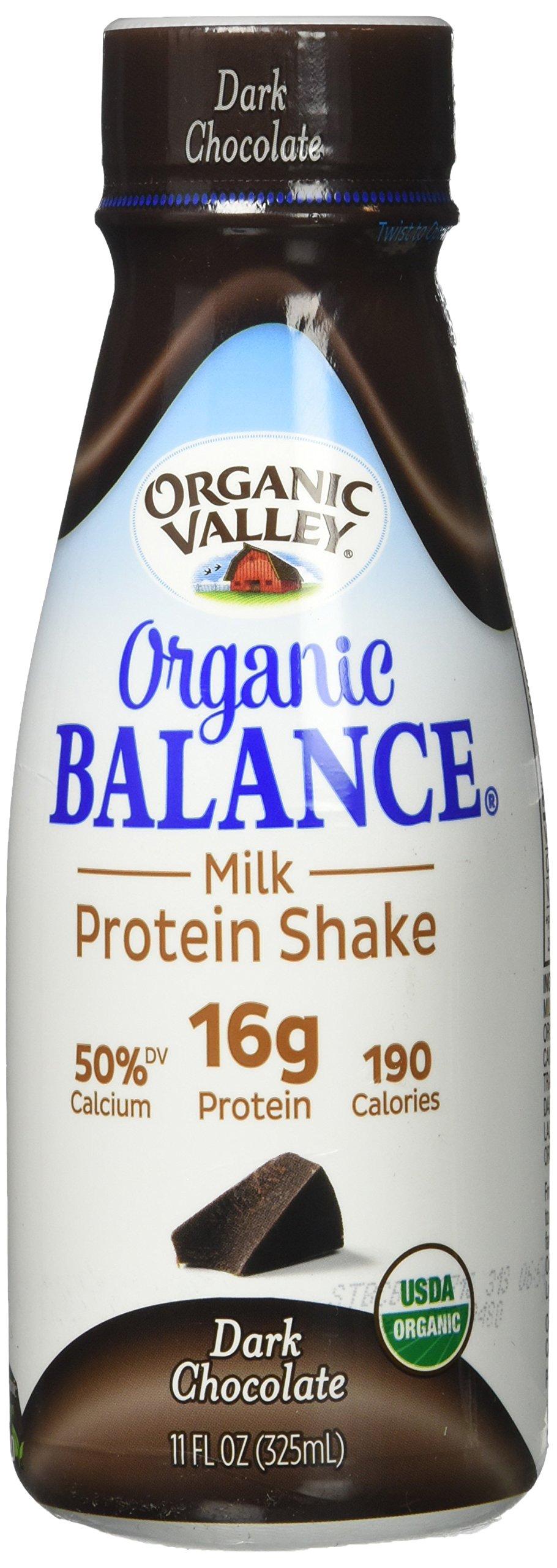 Organic Valley Organic Balance Milk Protein Shake - Chocolate - 11 Ounces, 12Ct