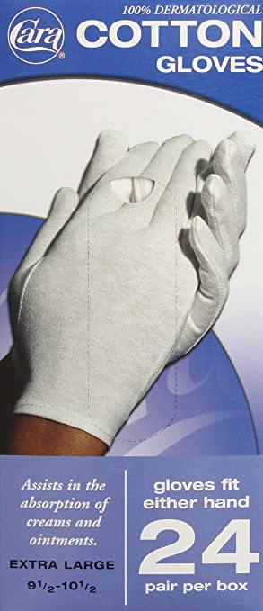 91590aca90 Image Unavailable. Image not available for. Color  CARA Moisturizing Eczema  Cotton Gloves