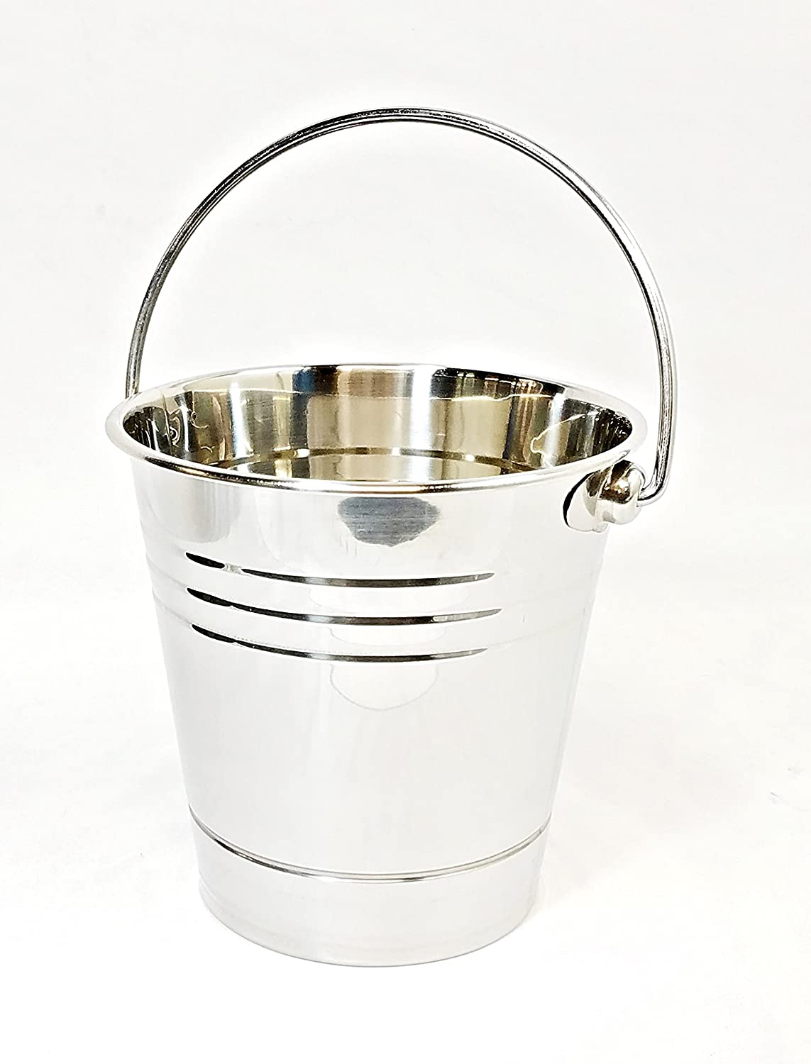 Metal Bucket for Grease with Grill/Smoker - Metal Pail W/Handle - 2 Quart GMG