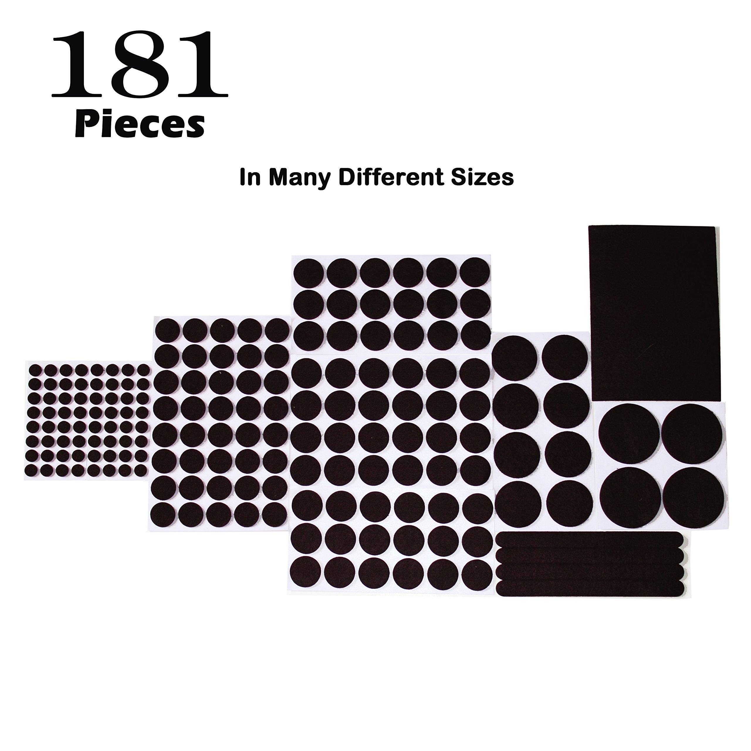 Felt Pads Furniture Feet, K-Guard furniture pads 181 pieces Floor Protector