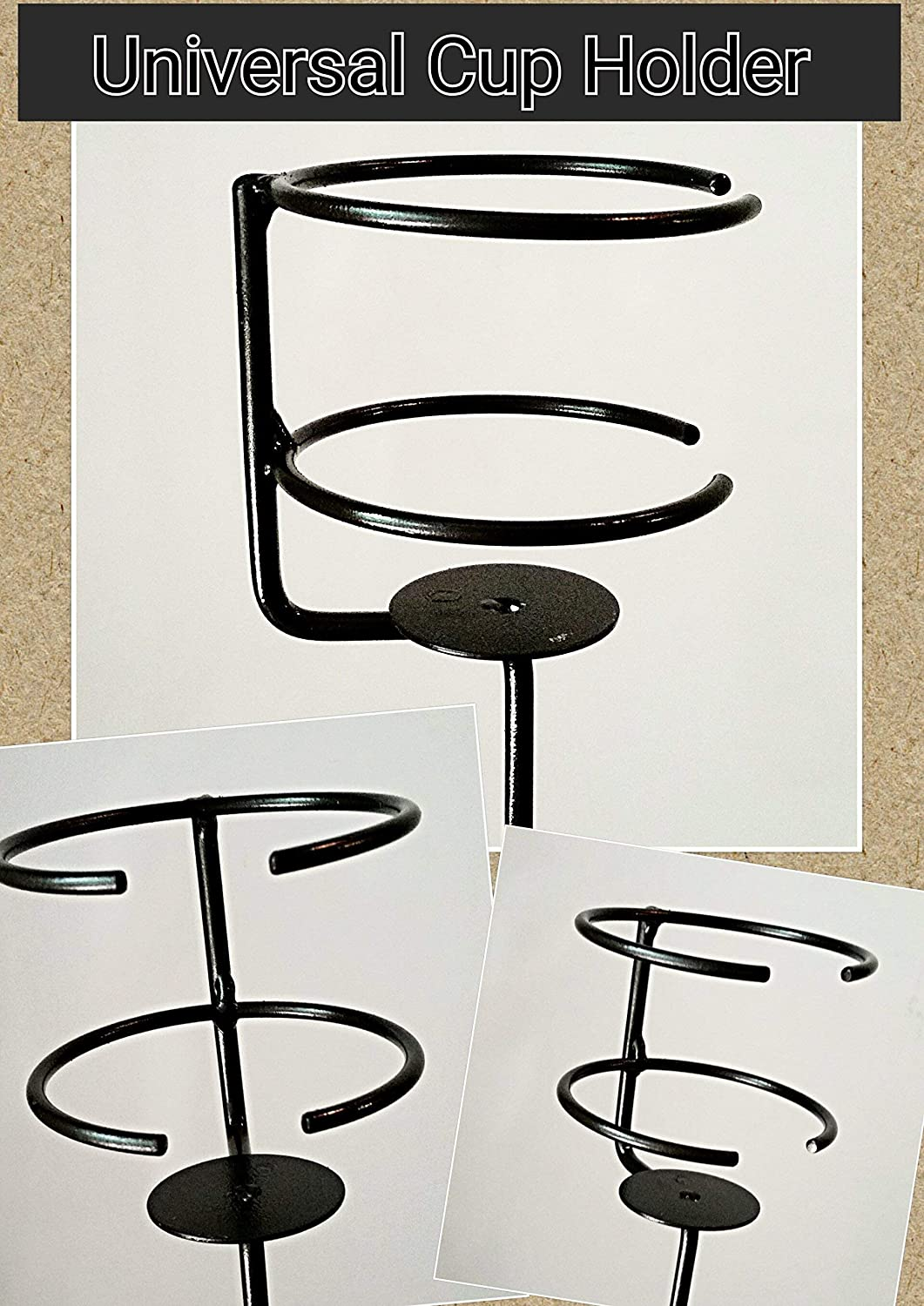 Small Party Package 2 Outdoor Wineglass /& 2 Universal Cup Holders Blacksmith Made Beer, Mug, or Cup