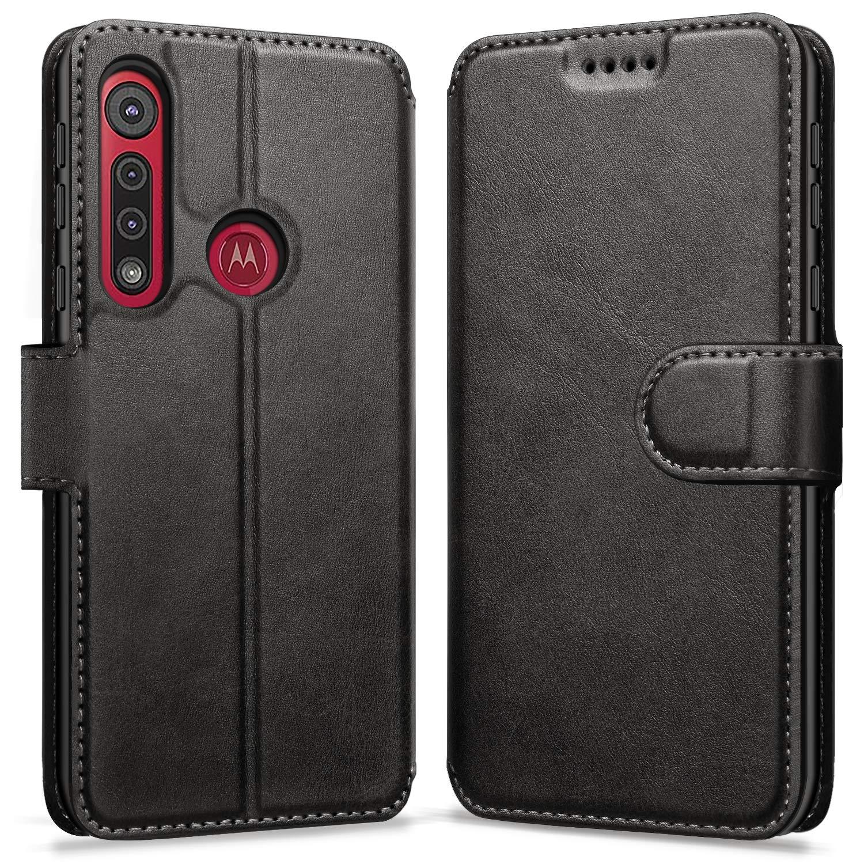 Funda De Cuero Flip Cover Para Motorola G8 Play