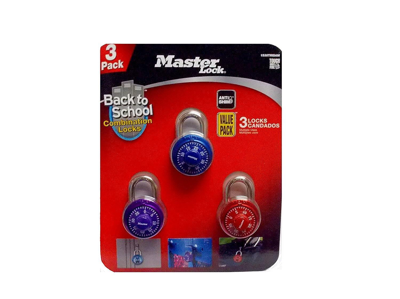Master Lock Combination Lock 3 Pack