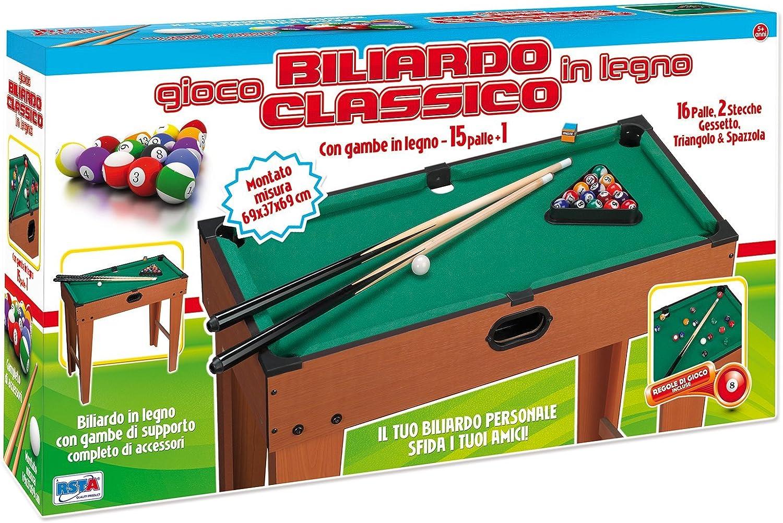 RSTA rstoys 9657 – Billar Madera montado 69 x 37 x 69 cm: Amazon.es: Juguetes y juegos
