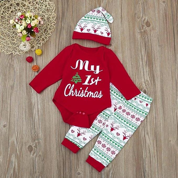 Fulltime No/ël Nouveau-n/é b/éb/é gar/çon Fille Tops Pantalons Christmas Home Tenues Pyjamas Ensemble