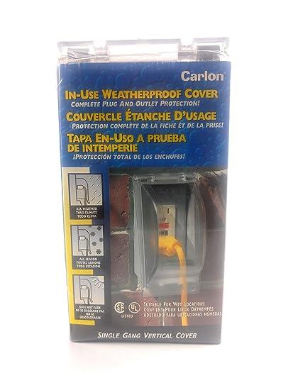 Carlon In Use Weatherproof Waterproof Power Outlet Cover Wet