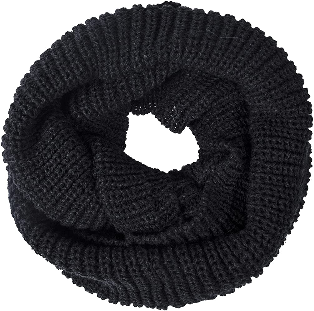 Women/'s Winter Infinity Scarf Knit Wrap Circle Loop Warm Thick Cowl 2 Pack