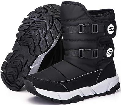 Winterstiefel Mädchen Winterschuhe Jungen Schneestiefel Kinder Wasserdicht  Stiefeletten Winter Schuhe Warm Gefüttert Stiefel Schlupfstiefel Outdoor  Boots ab10445c0d