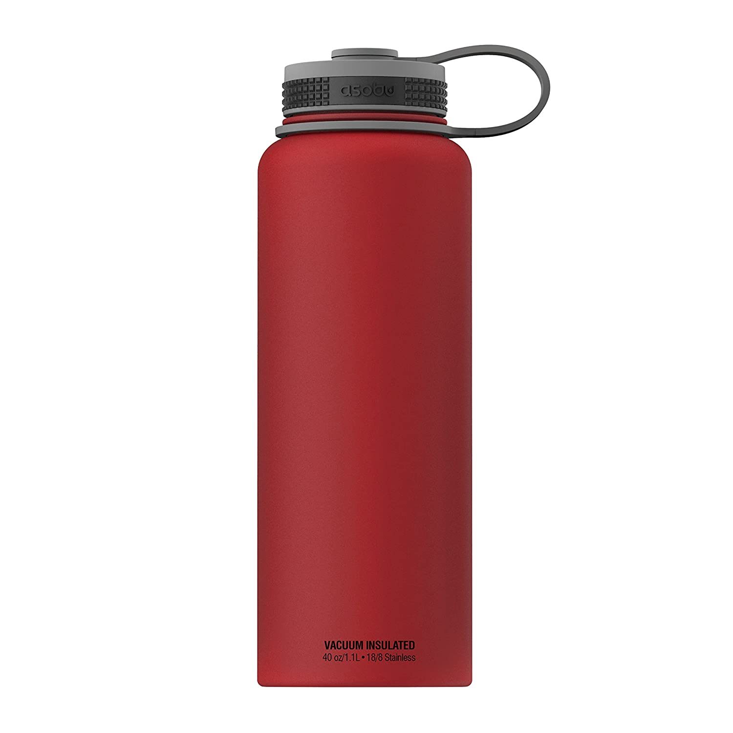 Asobu, The Mighty Flask, Wide Mouth Insulated Water Bottle, Stainless Steel, 40 oz., Black by asobu TMF1-9548
