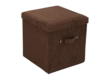 Famous Amazon.com: Casual Home Microsuede Folding Storage Ottoman, Brown  QK71