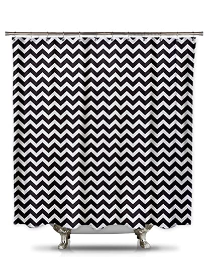 Image Unavailable Not Available For Color Black And White Chevron Shower Curtain
