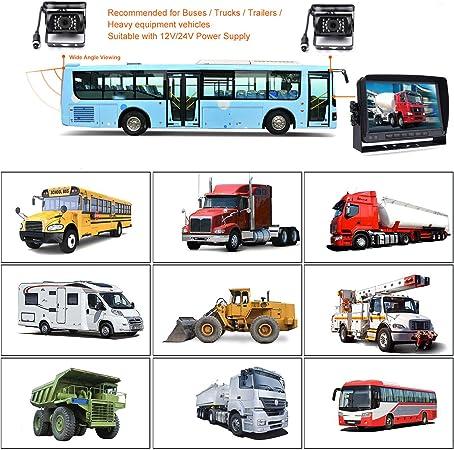 12 V 24 V 4 Poliges Auto Rückfahrkamera System Für Wohnmobil Bus Anhänger Lkw 7 Zoll