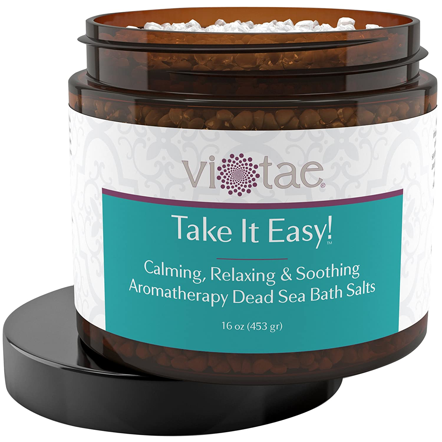 Stress Reduction, Relaxation & Soothing Aromatherapy Dead Sea Bath Salts - 'Take It Easy' 16oz vi-tae® 16.0oz