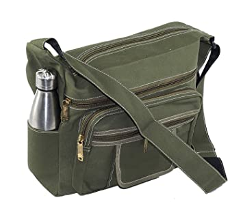 d65c3e239b Buy SEPAL Canvas Cross Body One Side Shoulder Sling Bag for Men & Women  Green Online at Low Prices in India - Amazon.in